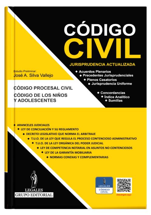 CÓDIGO CIVIL (11 en 1) Concordado Jurisprudencia, actualizado a OCTUBRE del 2021 + Aplicativo Móvil